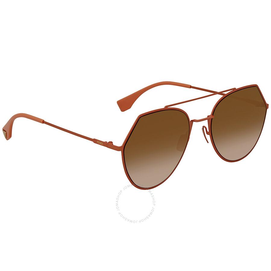 027658c713665 Fendi Round Ladies Sunglasses FF 0194 S 73353 - Fendi - Sunglasses ...