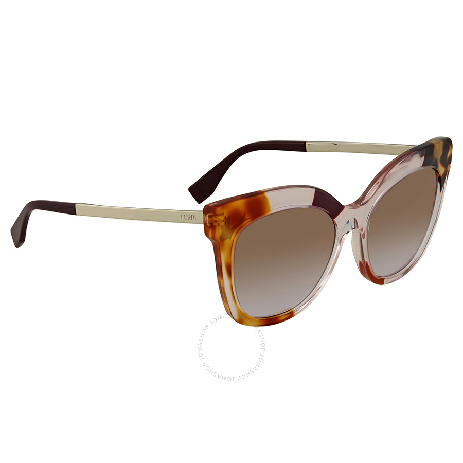6ae353f3fbd11 Fendi Brown Gradient Square Sunglasses FF 0179 S 27NLW - Fendi ...