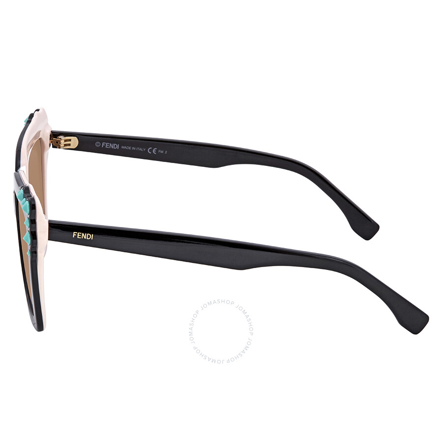 1e518d6e37 Sunglasses Fendi Can EYE FF 0260 3H2 53 Black Pink Plastic Sunglasses Brown  Gradient Lens