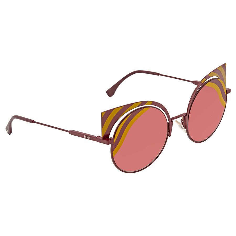 49813c1f1e Fendi Burgundy Gradient Cat Eye Sunglasses FF0215 S 00L9 53 - Fendi ...