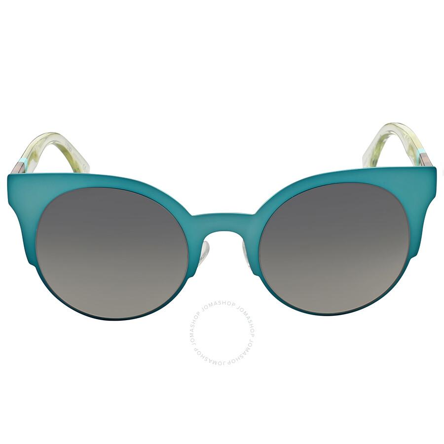 fd4a5ebbc44c3 Fendi Cat Eye Grey Mirror Shade Sunglasses Item No. FF 0080 S E1N IC