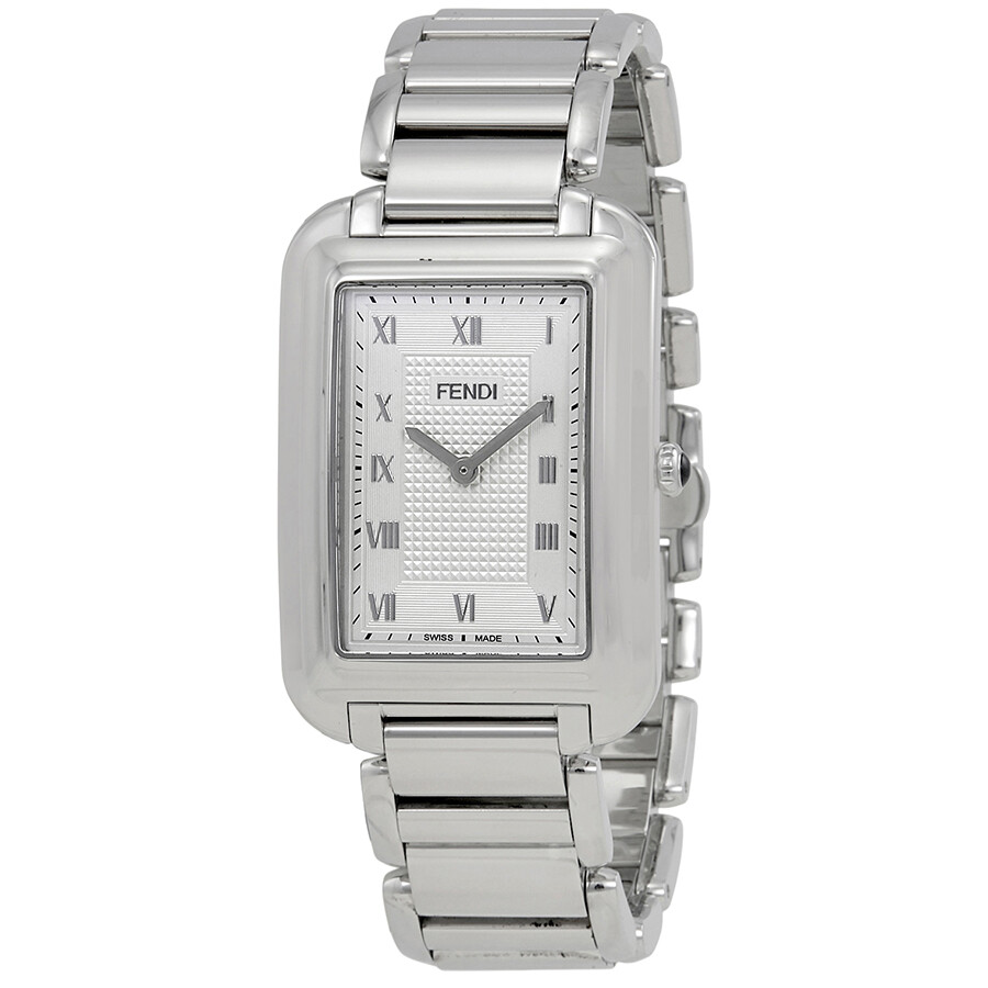 288eec8ca7e6 Fendi Classico Silver Dial Men s Stainless Steel Watch F701016000 ...