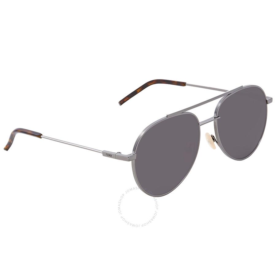 d7cdd5a7c21a Fendi Dark Grey Aviator Sunglasses FF 0222/S KJ1/M9 56 - Fendi ...