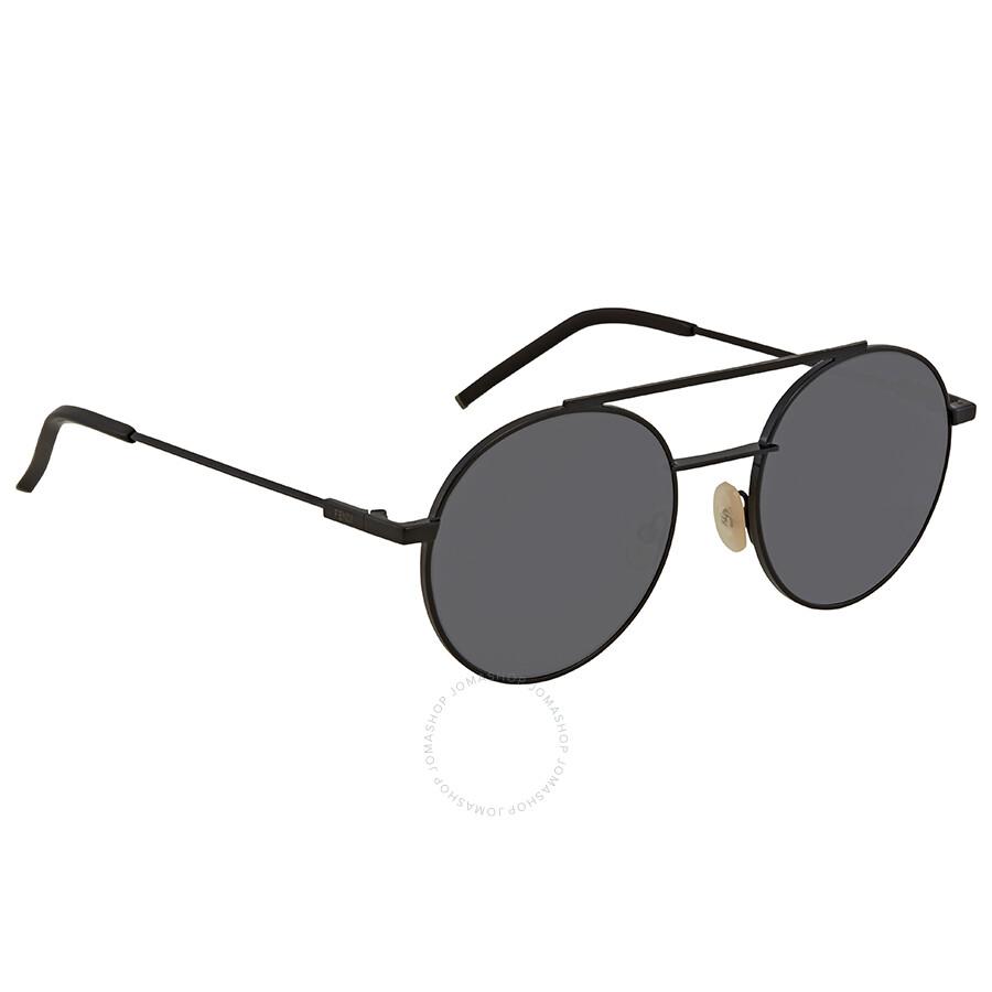 3658842925 Fendi Dark Grey Round Sunglasses FF 0221 S 807 IR 52 - Fendi ...