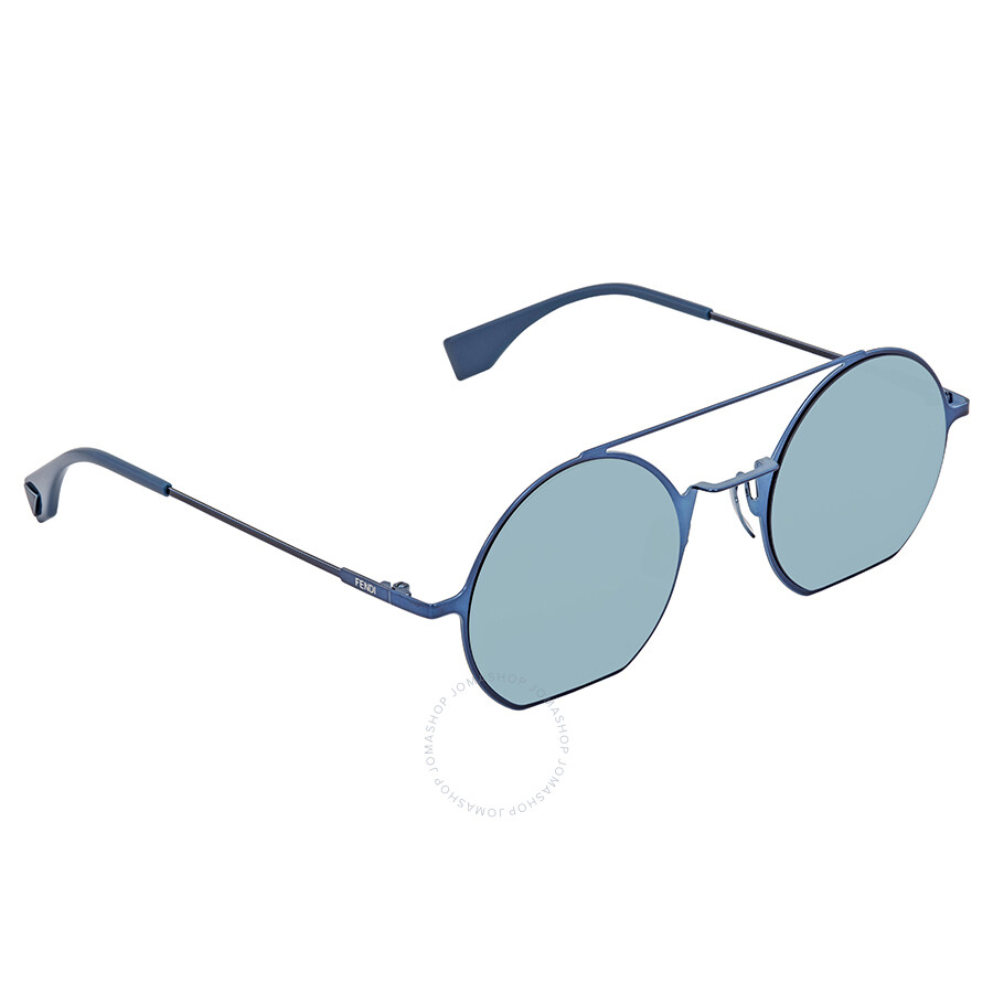 Ff 0291s Round Fendi 48 Ladies Blue Sunglasses Mirror Pjp3j Eyeline PkZuXTOi
