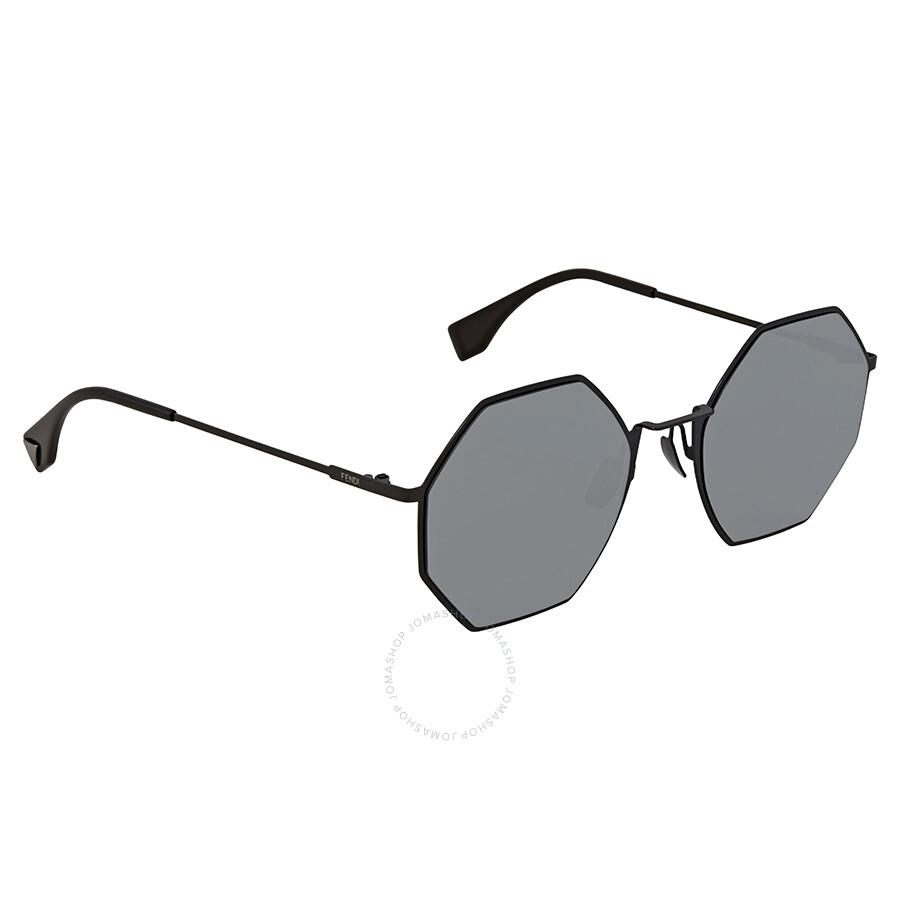 3dffa603f759 Fendi Eyeline Grey Mirror Round Sunglasses FF 0292 S 807 T4 53 ...