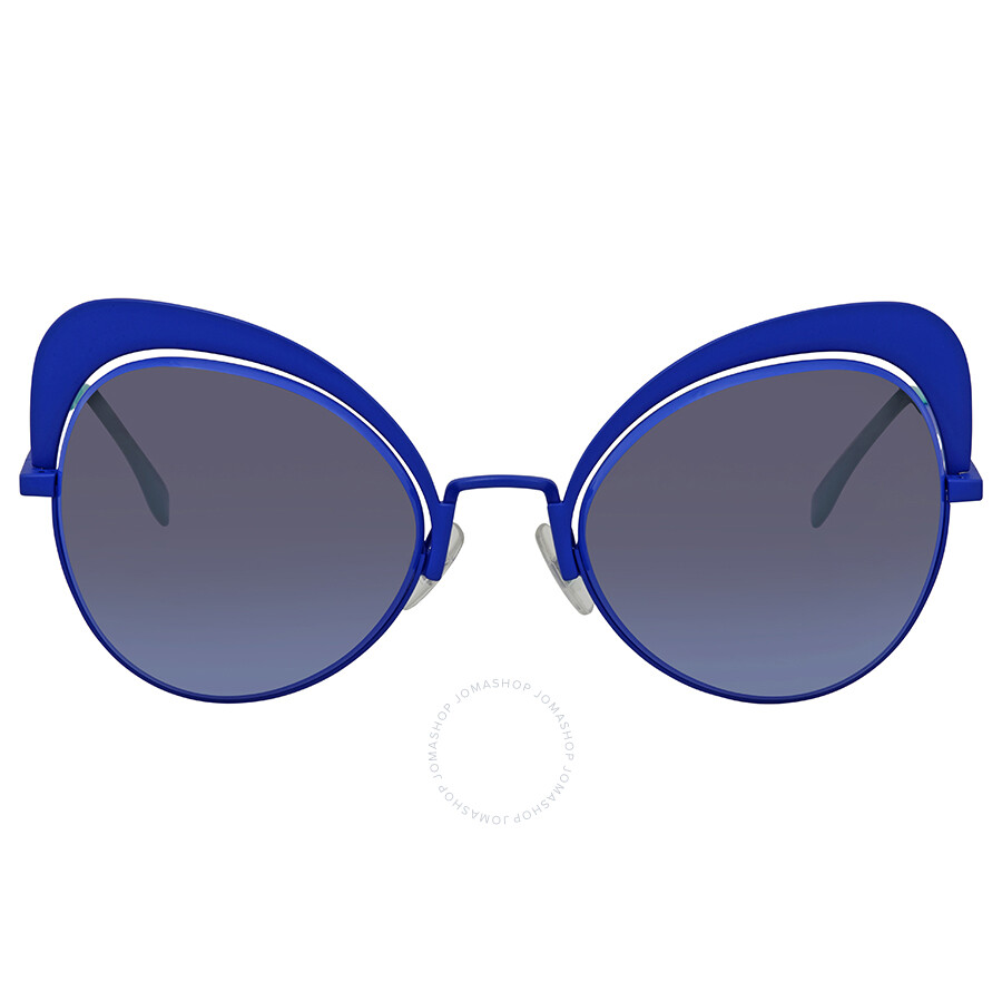 3befee42d541 ... Fendi Eyeshine Blue Gradient Cat Eye Ladies Sunglasses FF 0247 S PJP GB  54 ...