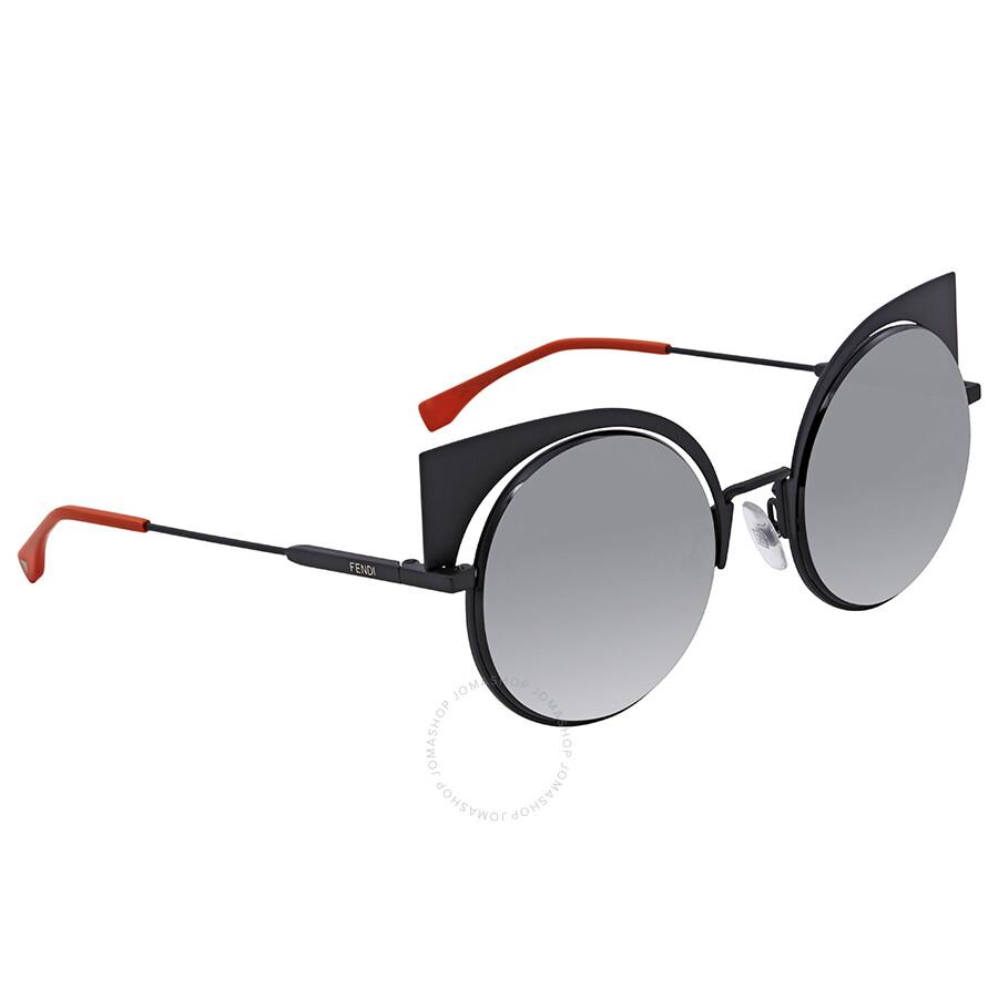 bf512e3cc2 Fendi Eyeshine Grey Gradient Cat Eye Ladies Sunglasses FF 0177 S 003VK ...