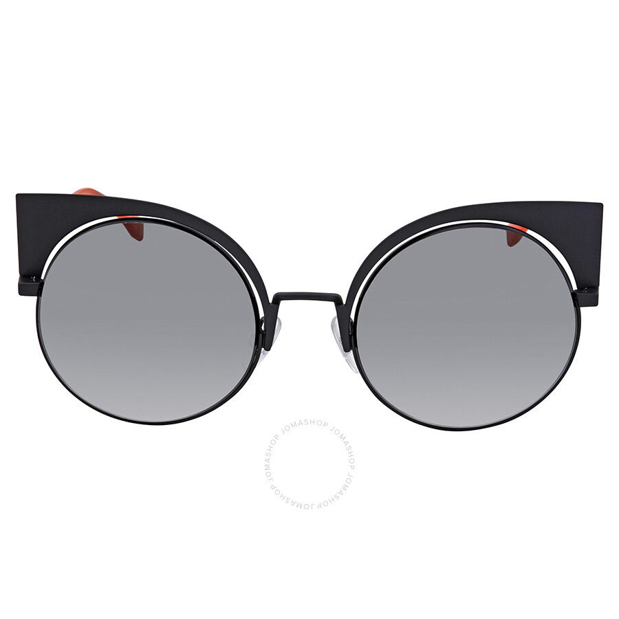 721249e2375 ... Fendi Eyeshine Grey Gradient Cat Eye Ladies Sunglasses FF 0177 S 003VK  ...