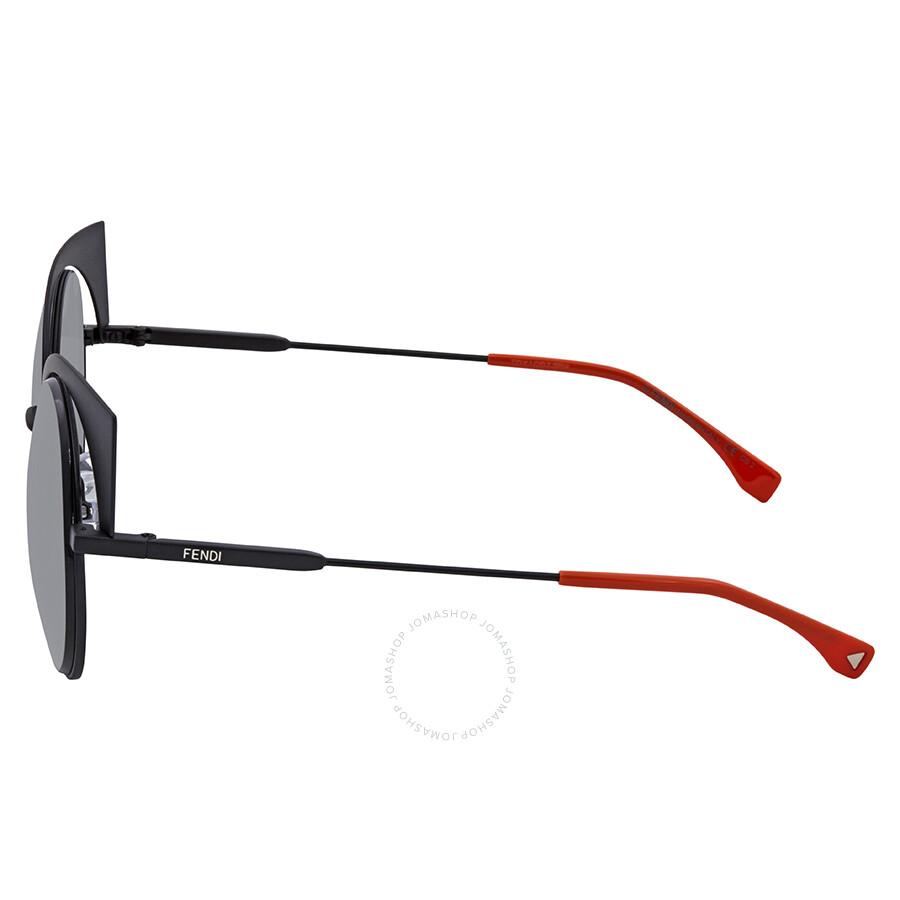 7562322fb6 ... Fendi Eyeshine Grey Gradient Cat Eye Ladies Sunglasses FF 0177 S 003VK