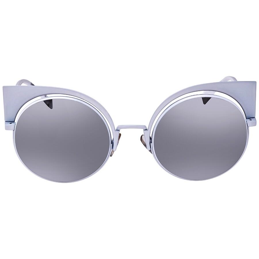 0f6c18f90a ... Fendi Eyeshine Grey Silver Mirror Cat Eye Ladies Sunglasses FF 0177 S  DMV53SS ...