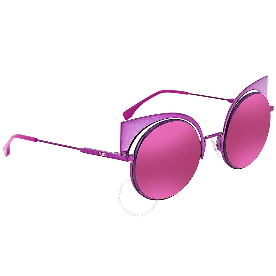 9c82196f1fd Fendi Eyeshine Lilac Flash Mirror Cat Eye Ladies Sunglasses FF 0177 S QZH  Item No. FF 0177 S QZH -53