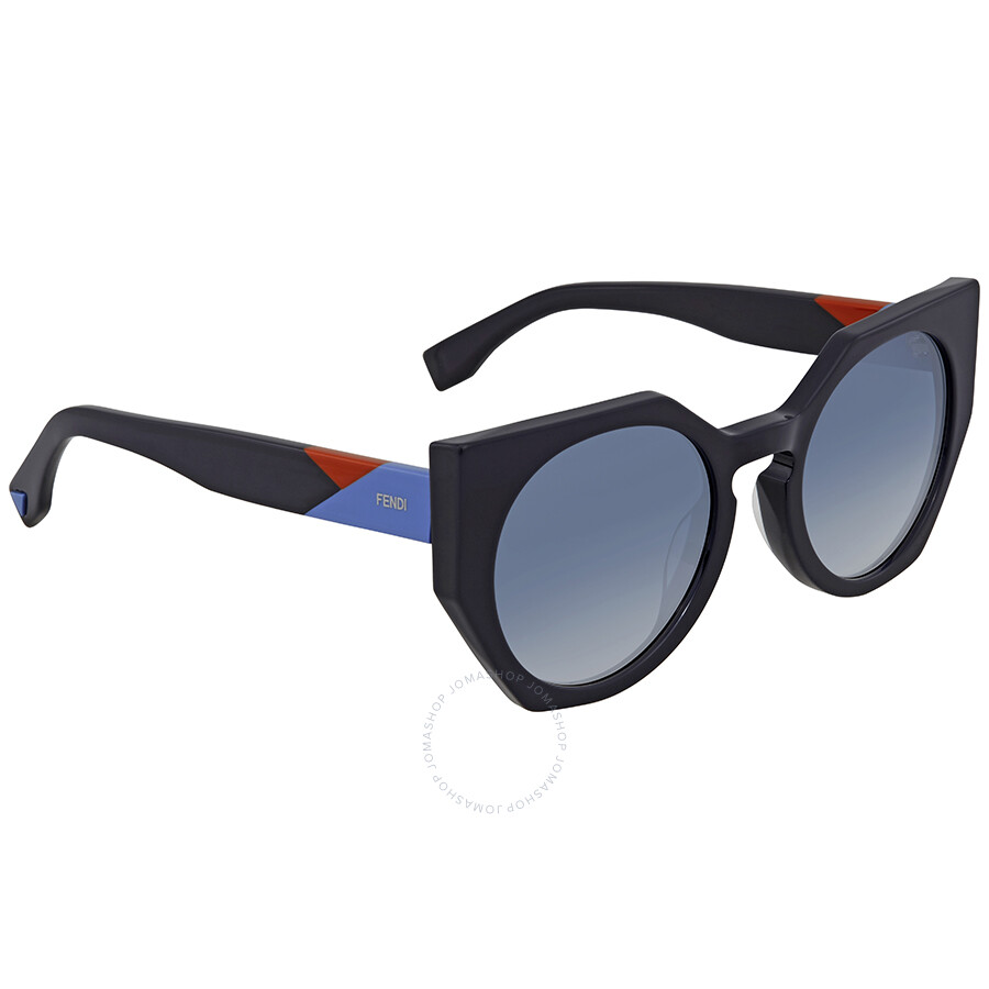 a0e3077b7e Fendi Facets Blue Gradient Cat Eye Ladies Sunglasses FF 0151/S PJP51U3 ...