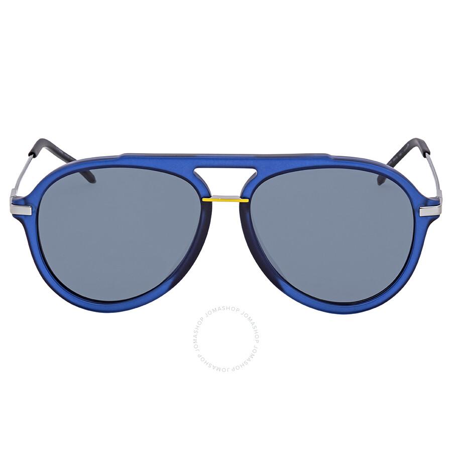 df049fc5bb75 ... Fendi Fantastic Grey Aviator Men s Sunglasses FF M0011 S PJP IR 58 ...