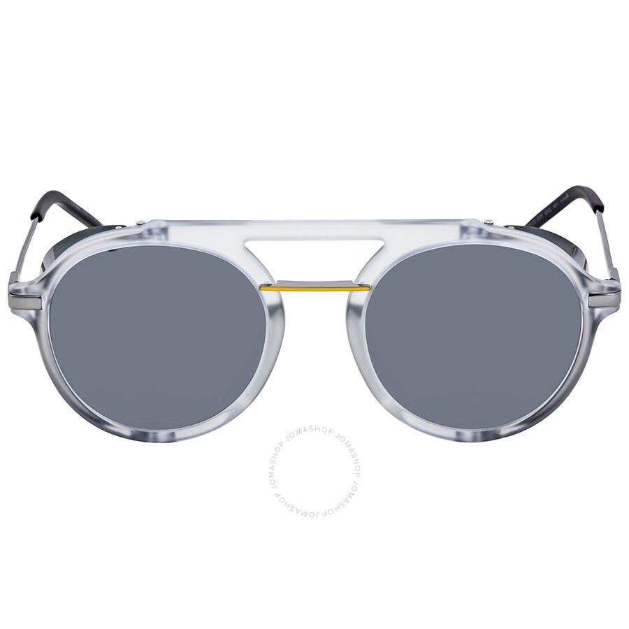 ccf27eb88684 ... Fendi Fantastic Grey Aviator Men s Sunglasses FF M0012 S 900 IR 52 ...