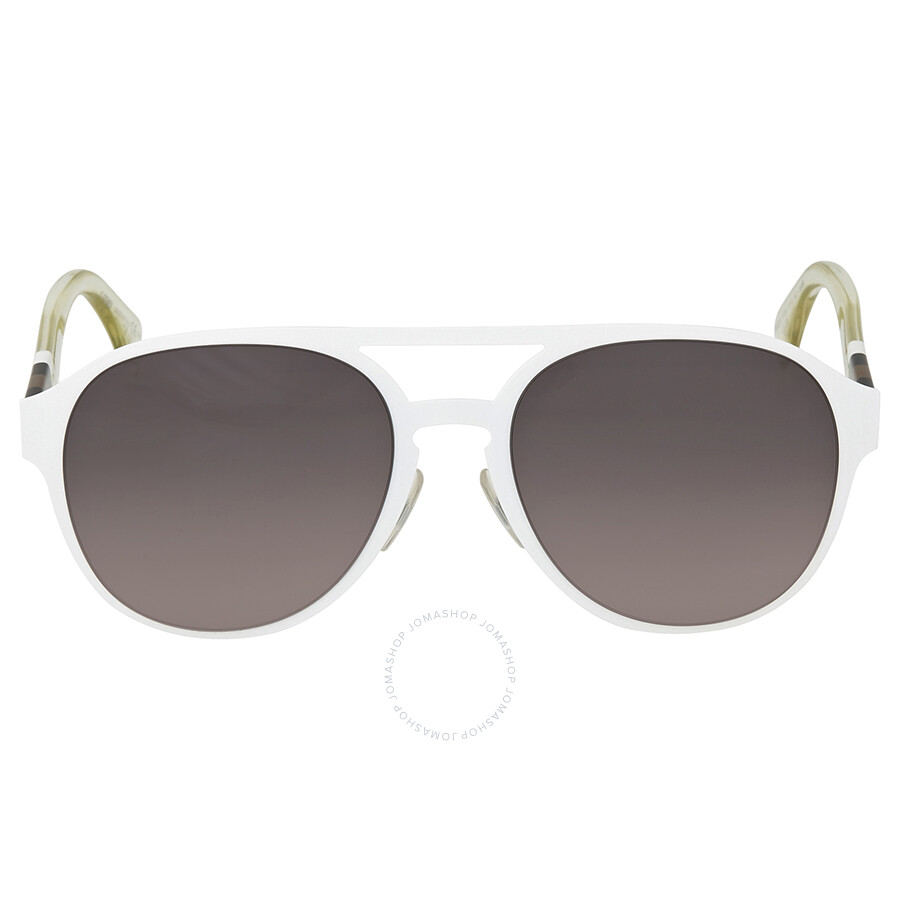 f806c3325 Fendi Grey Gradient Clear White Aviator Sunglasses Item No. FF 0082 S E2OEU  55
