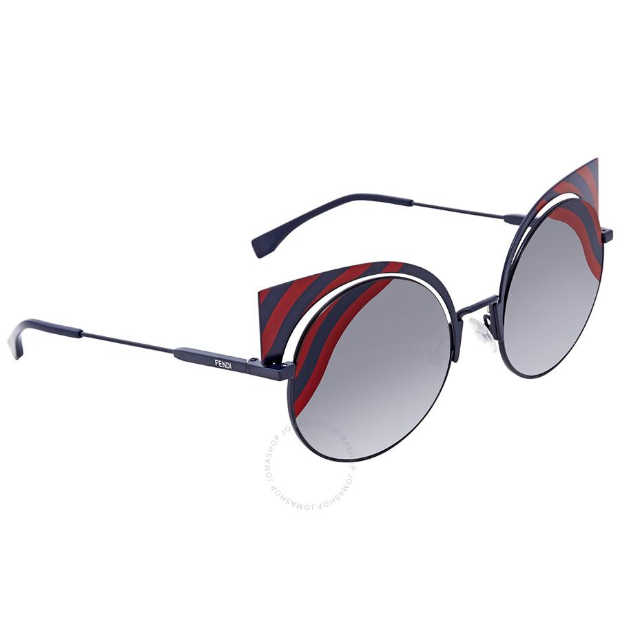 fd098ea88aa6 Fendi Grey Gradient Round Sunglasses FF 0215 S 0M19L - Fendi ...