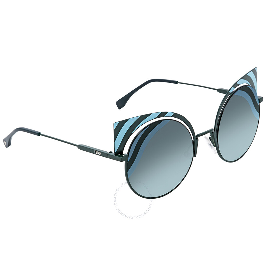 f8b69691e3 Fendi Grey-Green Gradient Cat Eye Sunglasses FF0215 S 00KC 53 ...
