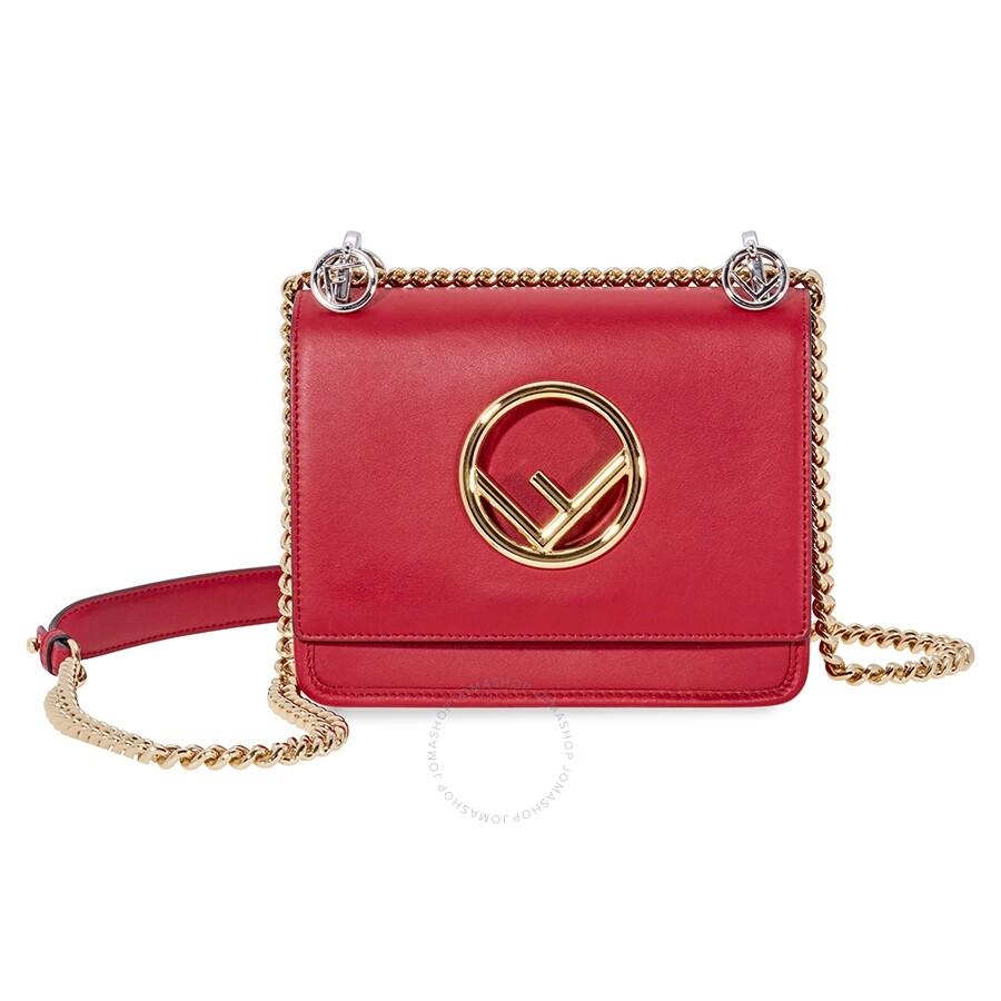 ea2a03b7ee31 Fendi KAN I F Small Shoulder Bag- Red - Fendi - Handbags - Jomashop