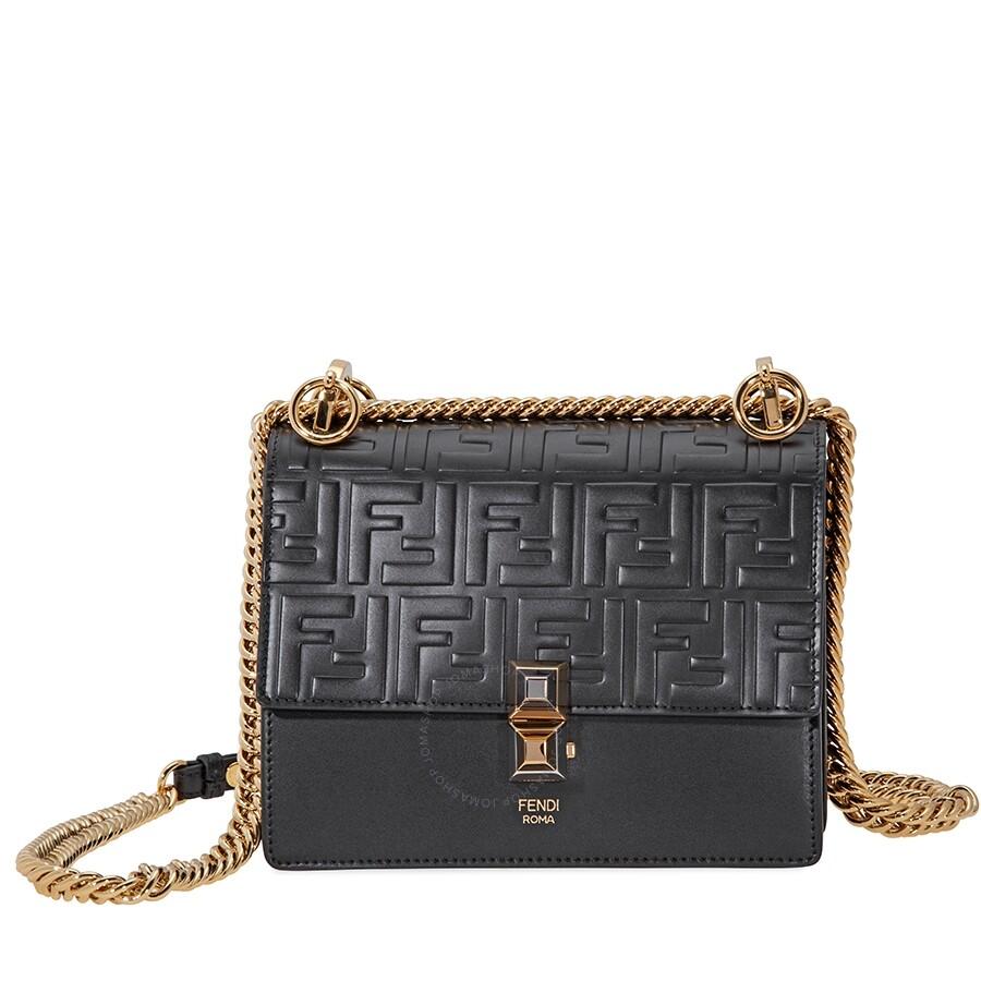 Fendi Kan I Small Crossbody Bag- Black - Fendi - Handbags - Jomashop