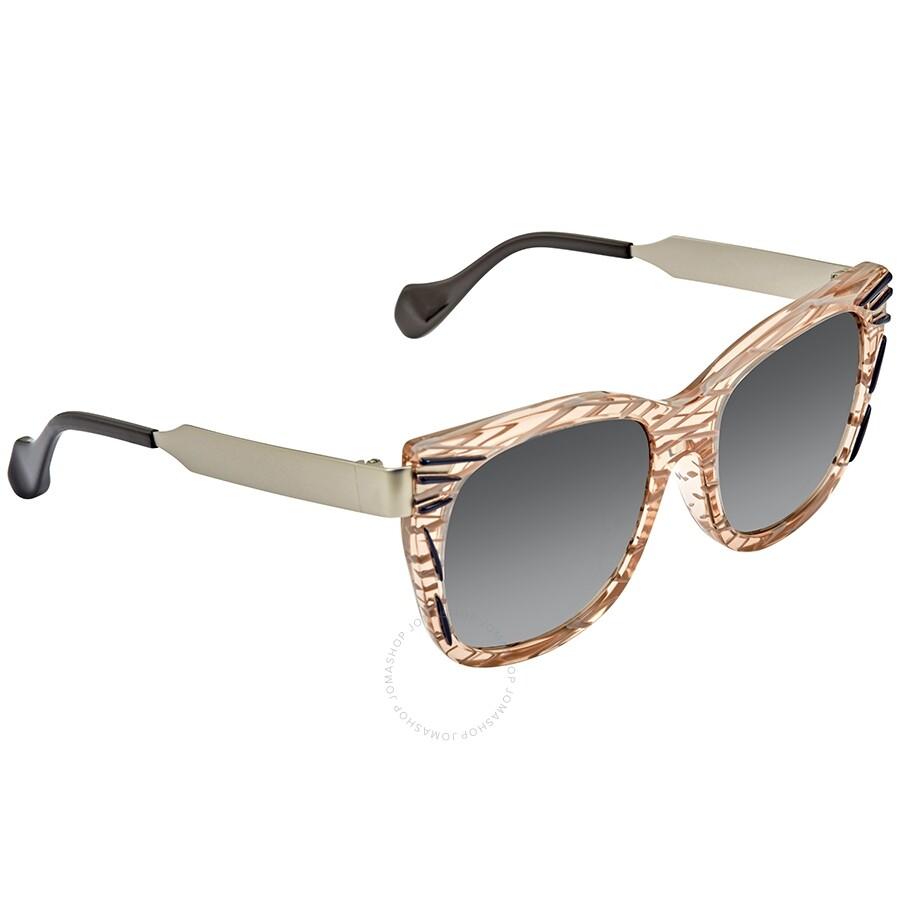 7bf055d50234 Fendi Kinky Thierry Lasry Grey Gradient Square Ladies Sunglasses FF 0180 S  VDO VK Item No. FF 0180 S VDO VK -54