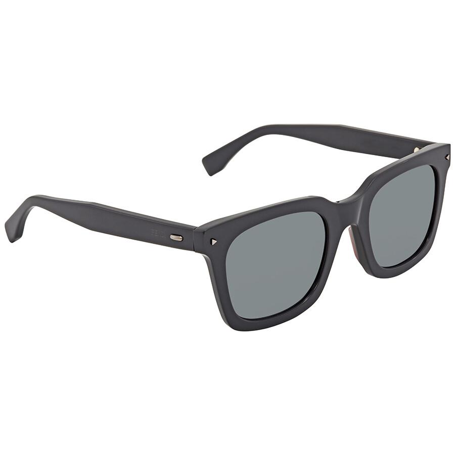 e83dc146ae Fendi Light Ruthenium Grey Square Sunglasses FF 0216 S KB7 T4 53 ...