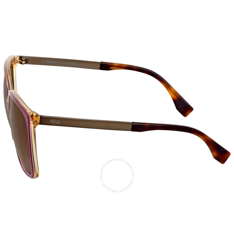 68a069bd22a39 Fendi Logo Oversize Mauve Shaded Asia Fit Sunglasses - Fendi ...