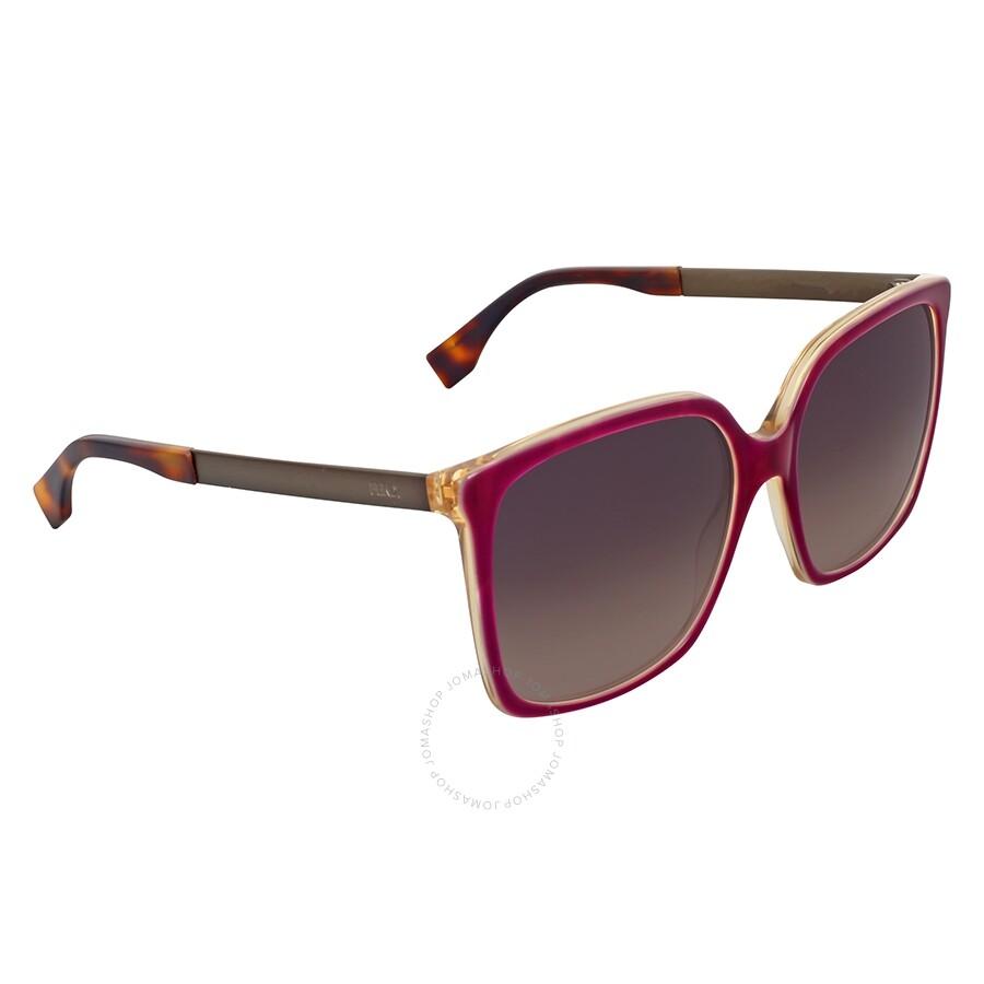 3797bcec0389 Fendi Logo Oversize Mauve Sunglasses - Fendi - Sunglasses - Jomashop