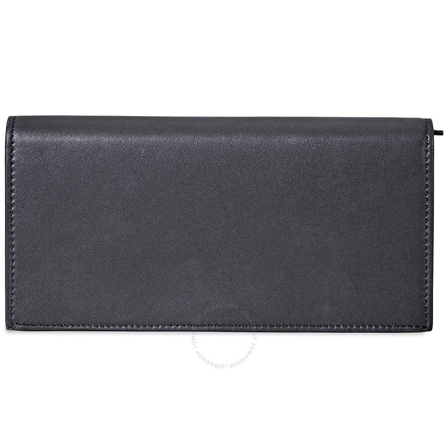 1a849d6b4a5c Fendi Logo Stamp Wallet- Black - Fendi - Handbags - Jomashop