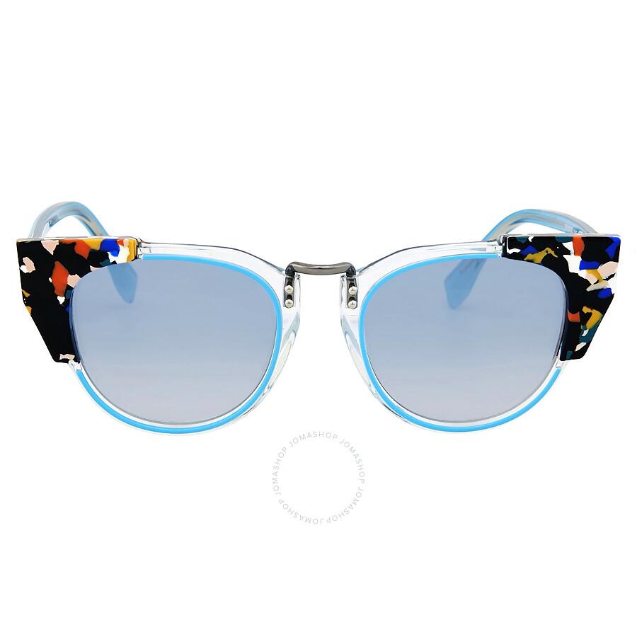 cfa3f55b61c35 Fendi Metropolis Azure Blue Sunglasses - Fendi - Sunglasses - Jomashop