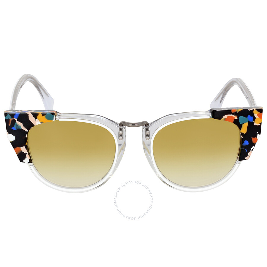 b43ff90ba141a Fendi Metropolis Azure Yellow Shaded Sunglasses Item No. FF 0074 S RCK SV