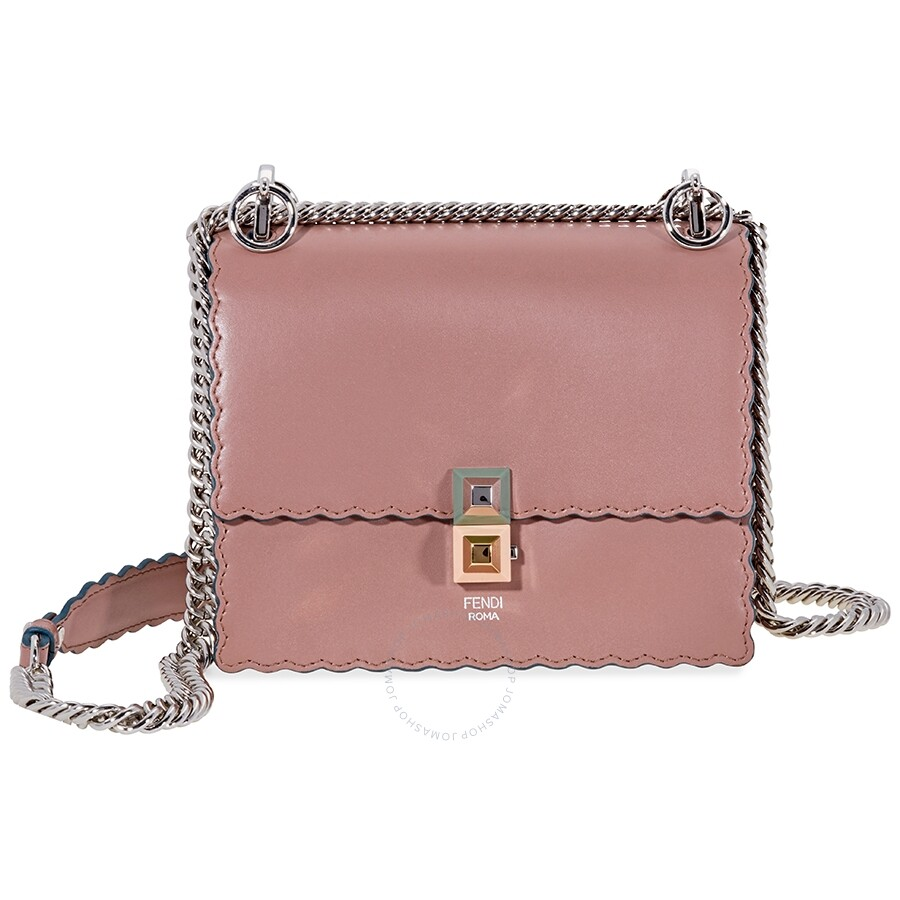 102600a46a64 Fendi Mini Kan I Scalloped Leather- Pink - Fendi - Handbags - Jomashop