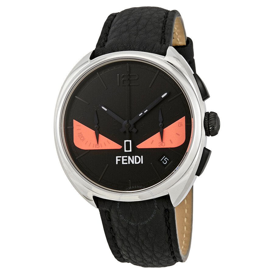 ee50faa823a5 Fendi Momento Chronograph Black with Pink Bug Eyes Dial Men s Watch  F214011711 ...