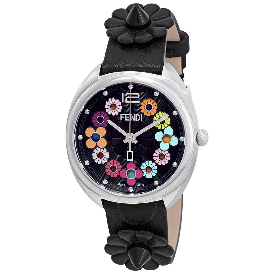 d48827b33f8a Fendi Momento Flowerland Black Dial Ladies Watch F234031011 - Fendi ...