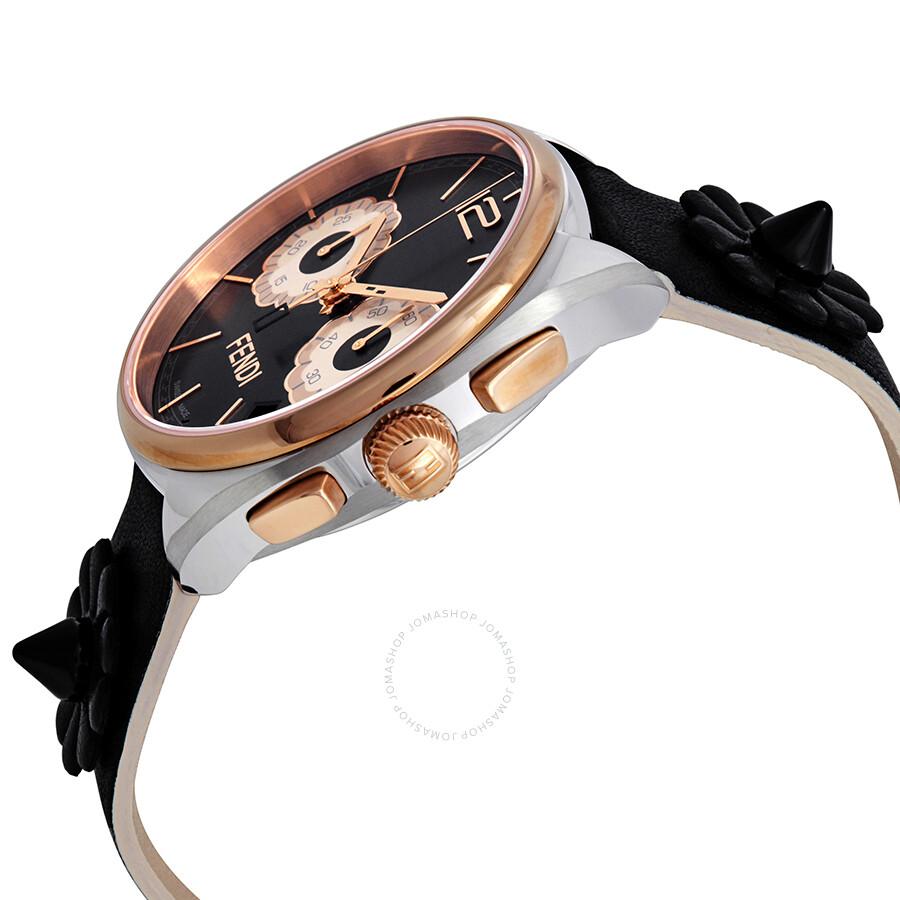 0efd6509f969 ... Fendi Momento Flowerland Chronograph Black Dial Ladies Watch F235211411  ...