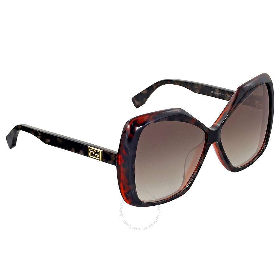f55a3026099 Fendi Orange Havana Oversize Sunglasses Fendi Orange Havana Oversize  Sunglasses ...