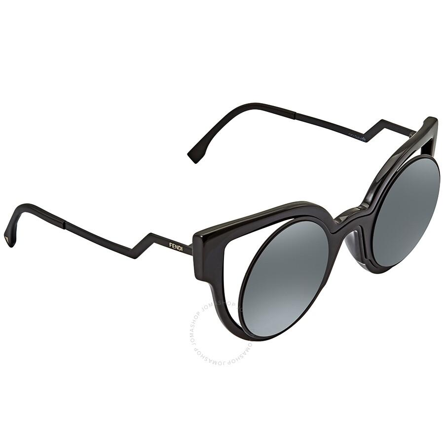 13ca54dc Fendi Paradeyes Grey Mirror Cat Eye Ladies Sunglasses FF 0137/S NT2/CN -49