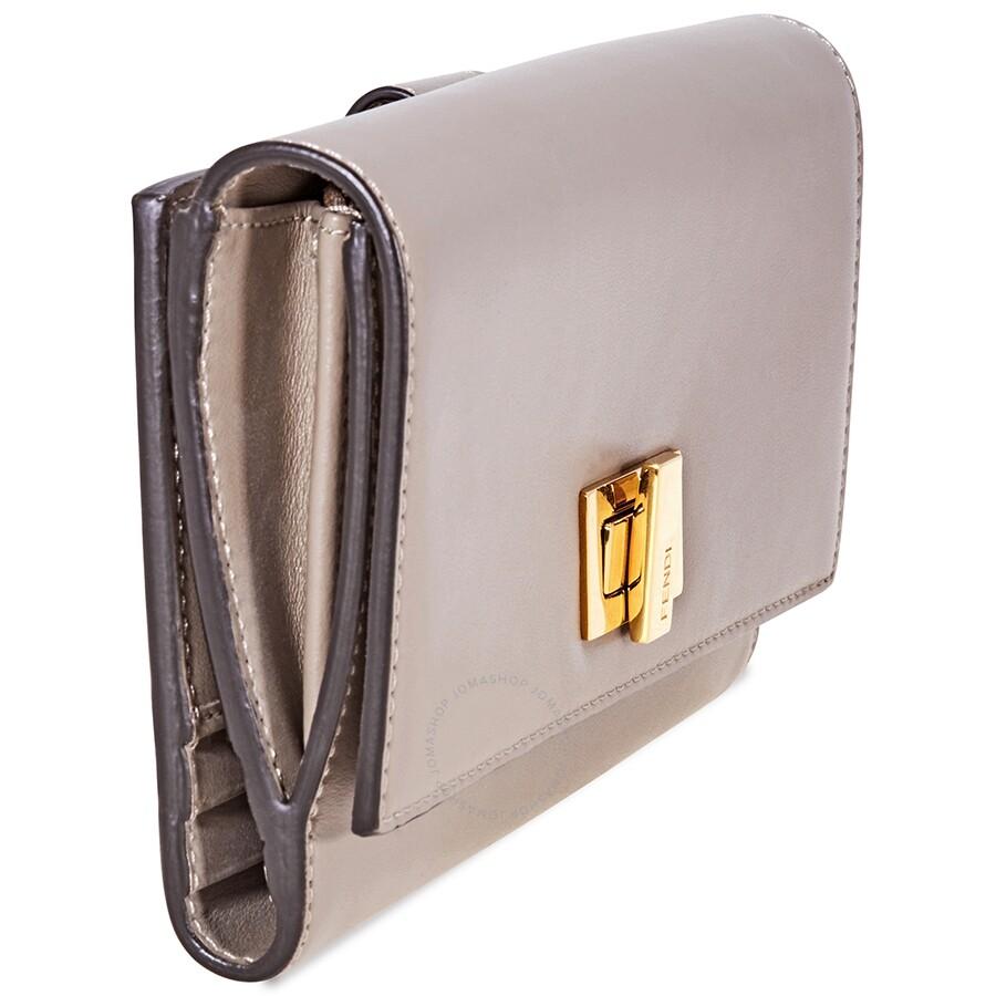 6d61d81d670d Fendi Peekaboo Continental Wallet- Beige - Fendi - Handbags - Jomashop