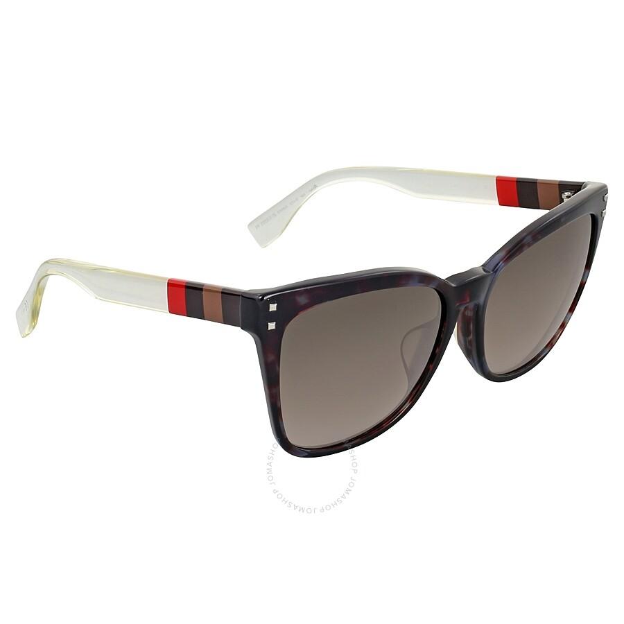 d47845e4b11d Fendi Pequin Grey Havana Asia Fit Cat Eye Sunglasses Item No. FF 0098 F S  E8M HA