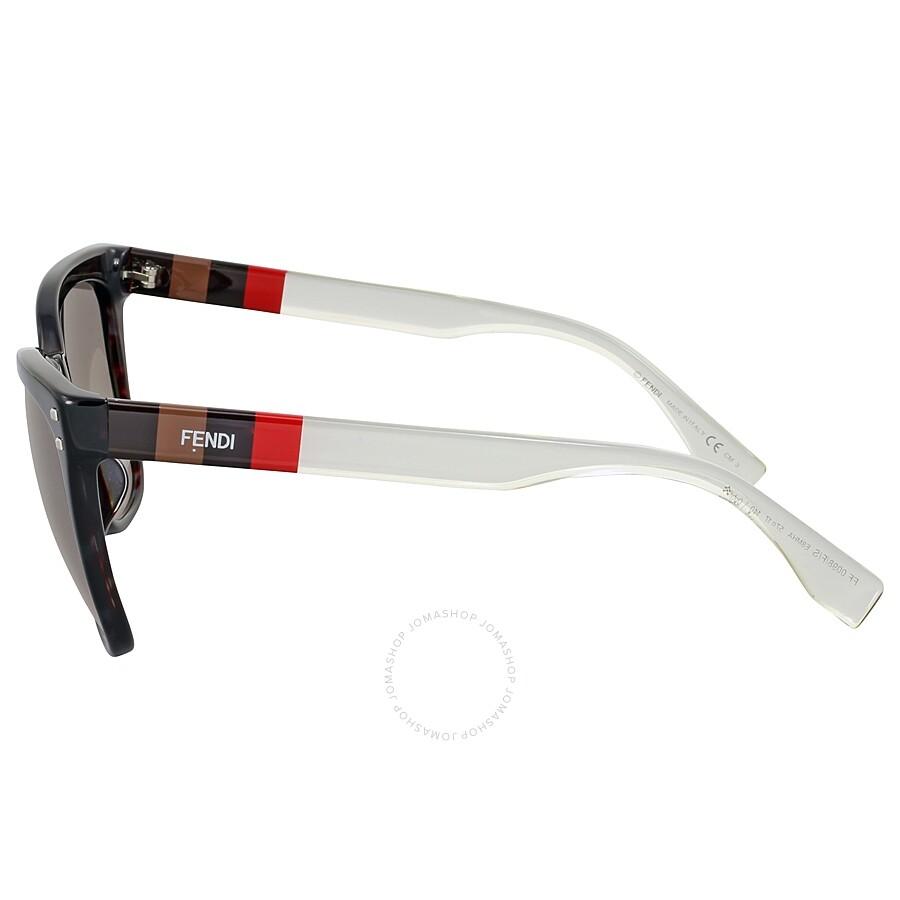 f0be73d11c1e Fendi Pequin Grey Havana Asia Fit Cat Eye Sunglasses - Fendi ...