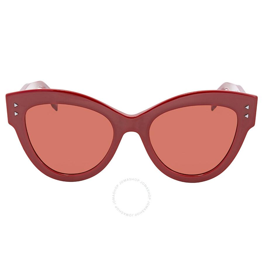0096457c6039 ... Fendi Red Cat Eye Sunglasses FF 0266 S C9A U1 52 Fendi