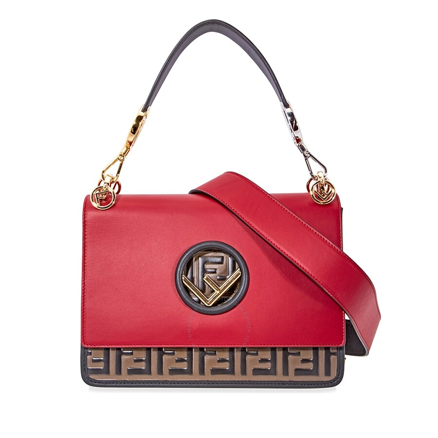 c798efce10 Fendi Smooth Leather Crossbody- Red - Fendi - Handbags - Jomashop
