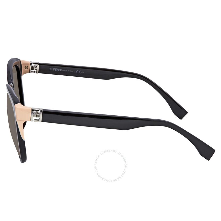 612a2164f23a ... Fendi The Fendista Grey Gradient Round Sunglasses FF 0144/F/S 29ANR