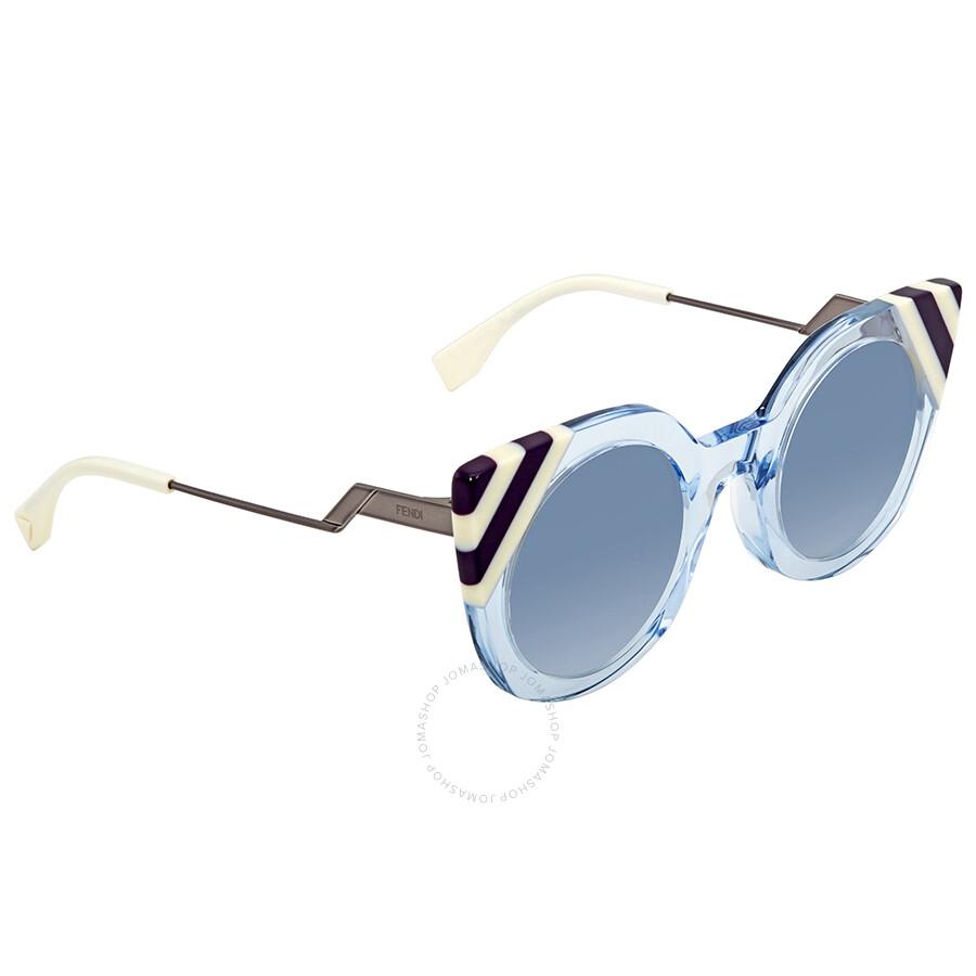 2540232904 Fendi Waves Blue Gradient Cat Eye Ladies Sunglasses FF 0240 S MVU 08 47 ...