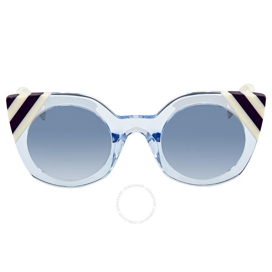 08277abee3 ... Fendi Waves Blue Gradient Cat Eye Ladies Sunglasses FF 0240 S MVU 08 47  ...