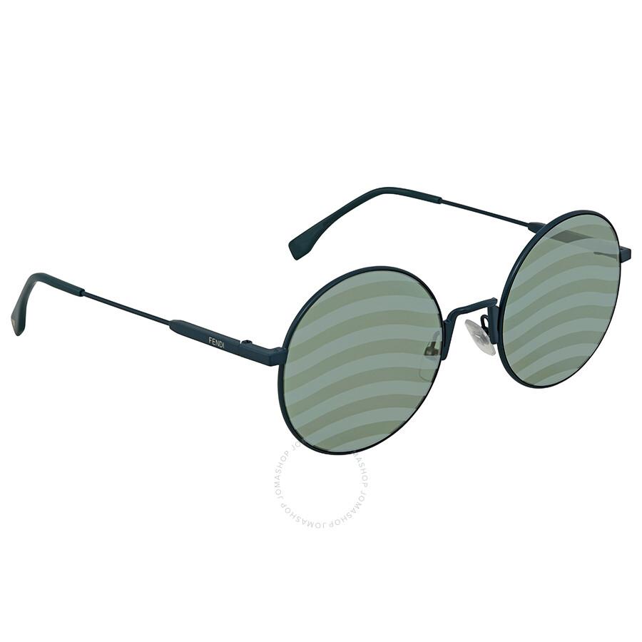 a9e718d2e891 Fendi Waves Green Round Ladies Sunglasses FF 0248/S 1ED/XR 53 ...