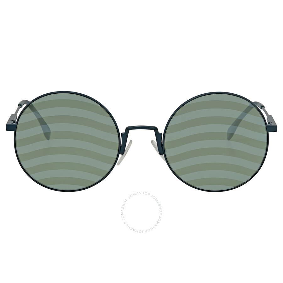 c76f90d7e883 ... Fendi Waves Green Round Ladies Sunglasses FF 0248 S 1ED XR 53 ...