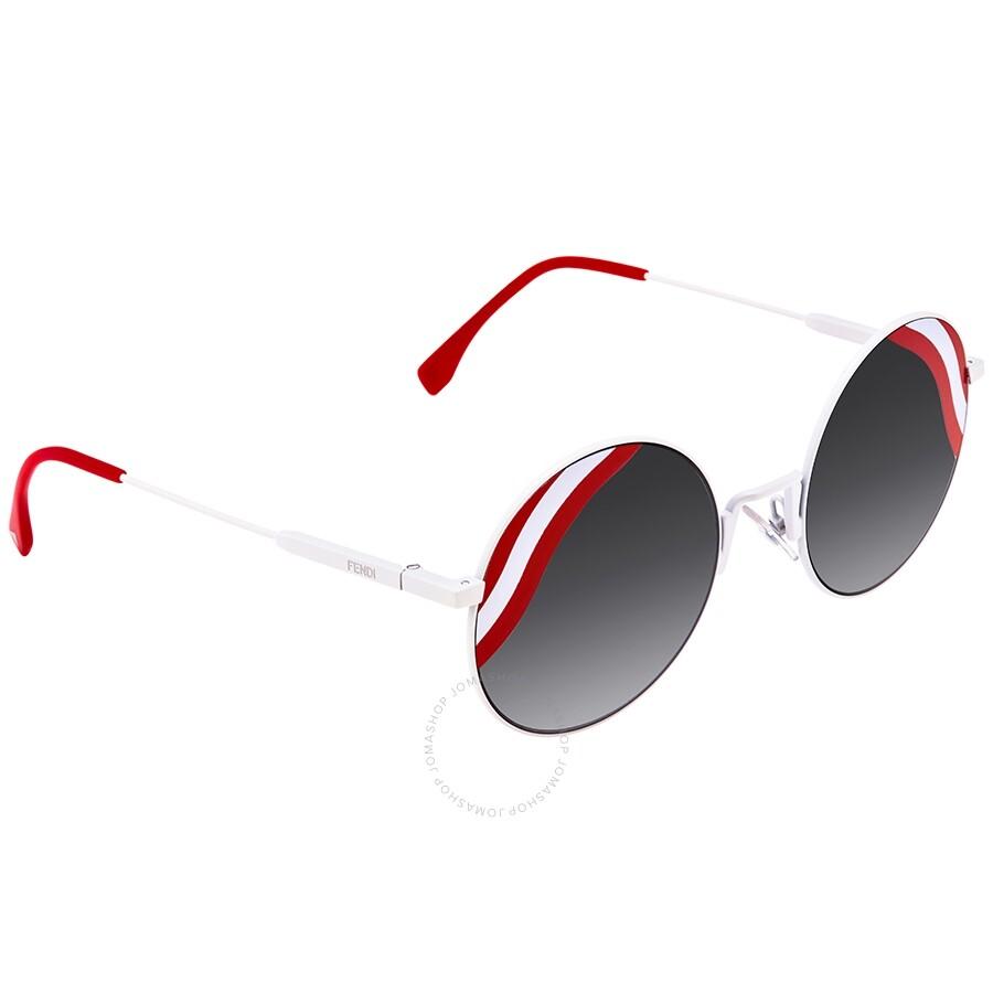 47f02dfcb07a Fendi Waves Grey Gradient Round Ladies Sunglasses Item No. FF 0248 S VK6 9O  -53