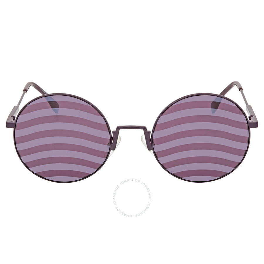 a52b5061b3bd0 ... Fendi Waves Purple Stripes Round Ladies Sunglasses FF 0248 S B3V XL 53  ...
