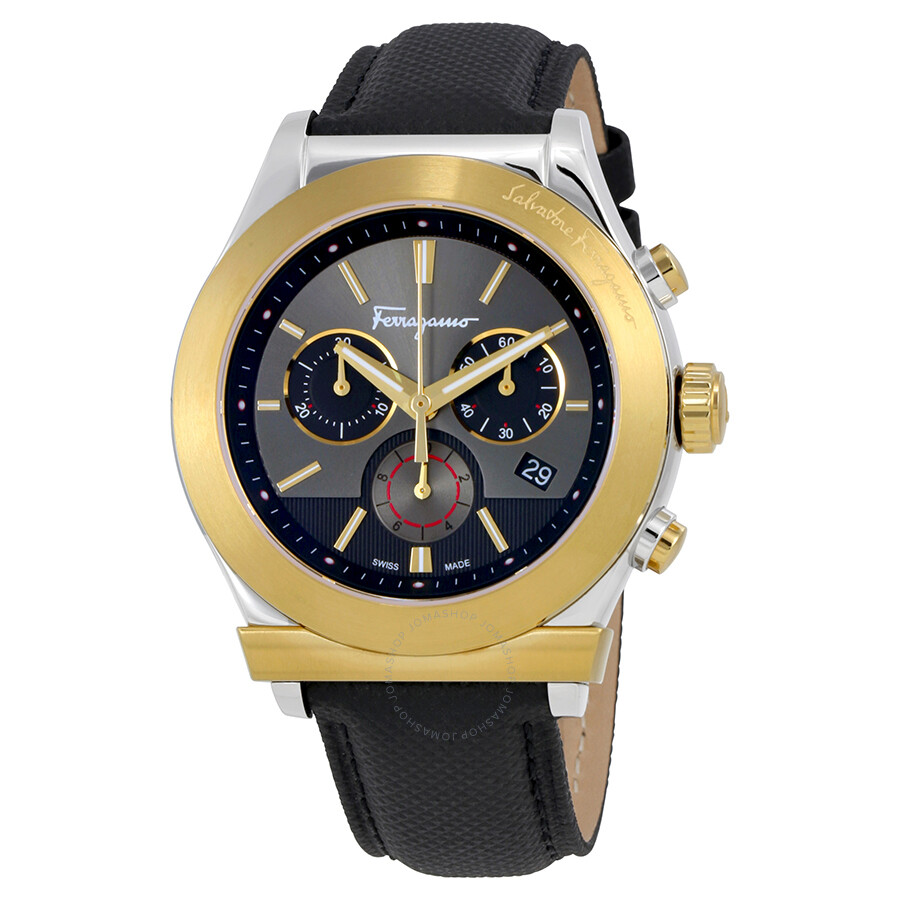 ferragamo 1898 chronograph black